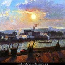 Sunset, Rouen by Pissaro