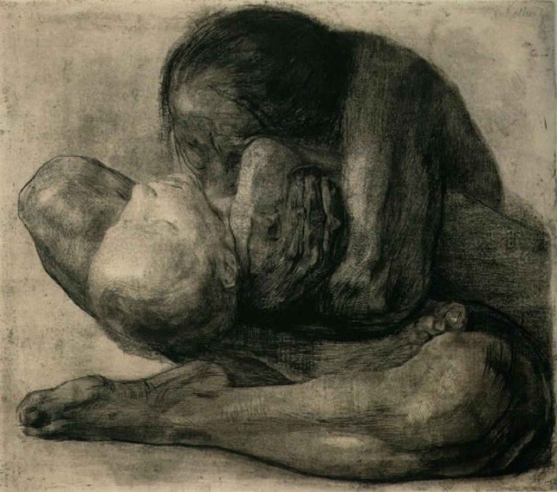 Woman With Dead Child by Kathe Kollwitz