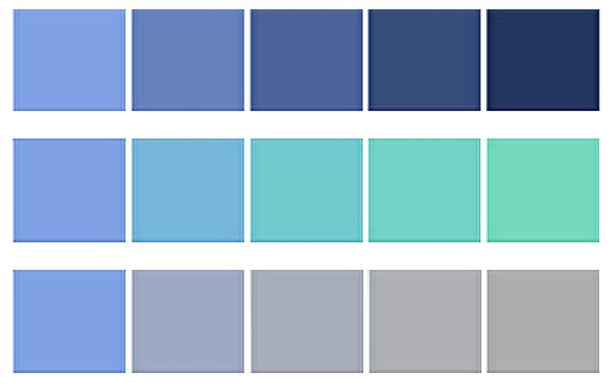 Properties of Color - Blue Hue