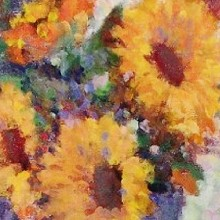 Sunflowers By A Window (detail)