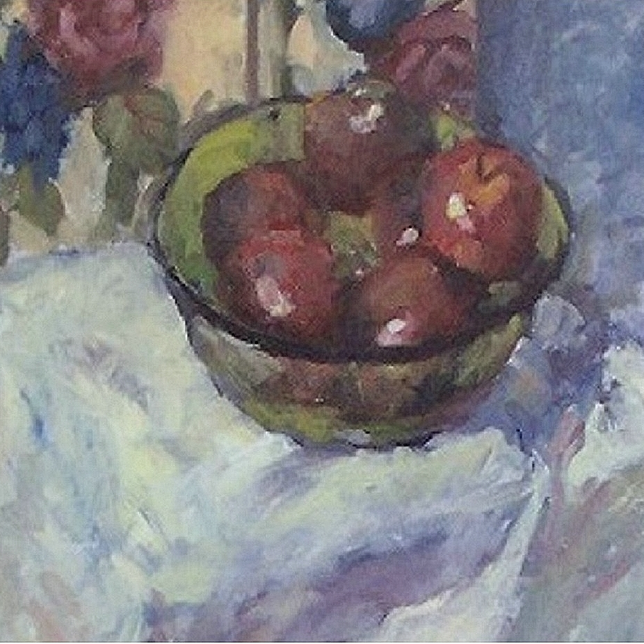 Green Bowl & Apples (detail) MTMcClanahan
