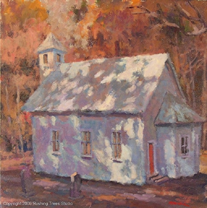 Church (destroyed) 20x20 acrylic on canvas