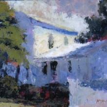 Blue House 8x10 acrylic on canvas by MTMcClanahan