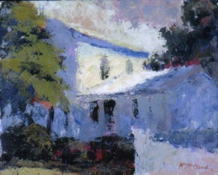 Blue House 8x10 acrylic on canvas by MTMcClanahan