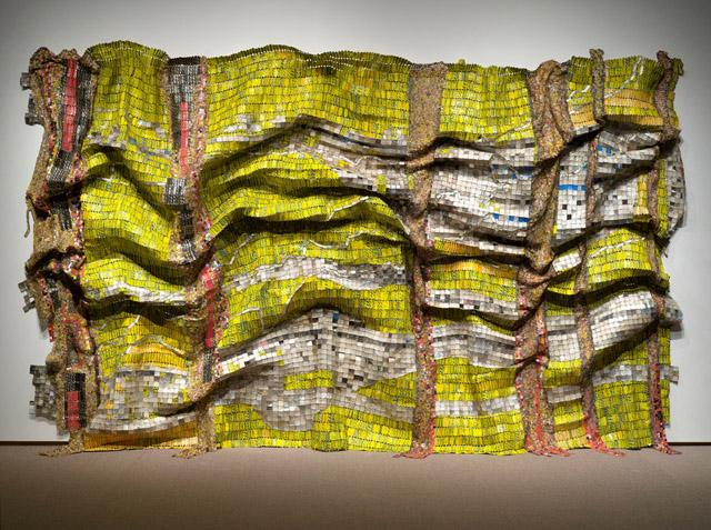 Lines That Link Humanity by El Anatsui