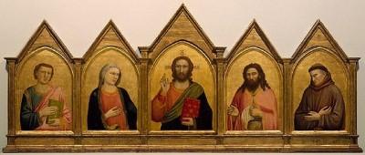 The Peruzzi Altarpiece by Giotto di Bondone, circa 1310-1315