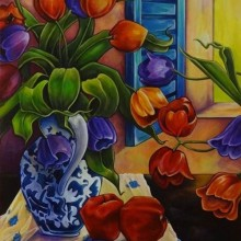 Tulips & Apples by Sandra (Kiki) Thome