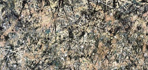 Number 1, Lavender Mist detail) by Jackson Pollock