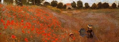Wild-Poppies Near-Argenteuil Monet