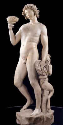 Bacchus 1496 Michelangelo