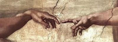 Creation of Adam detail Michelangelo