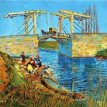 Langlois Bridge at Arles by Vincent Van Gogh
