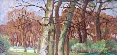 Birkenwald im Herbst by Anna Feldhusen