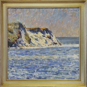 Falaises de Monet with Silver Frame
