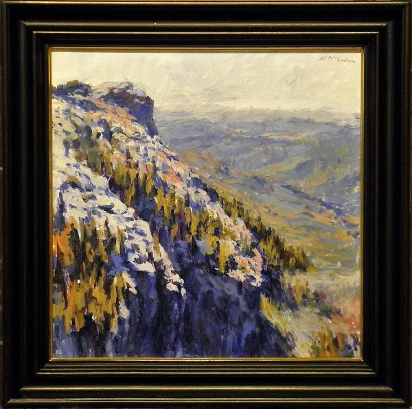 Grandfather Mountain with Deep Scoop Black Frame