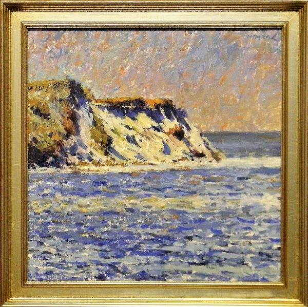 Falaises de Monet with American SilverLeaf Frame
