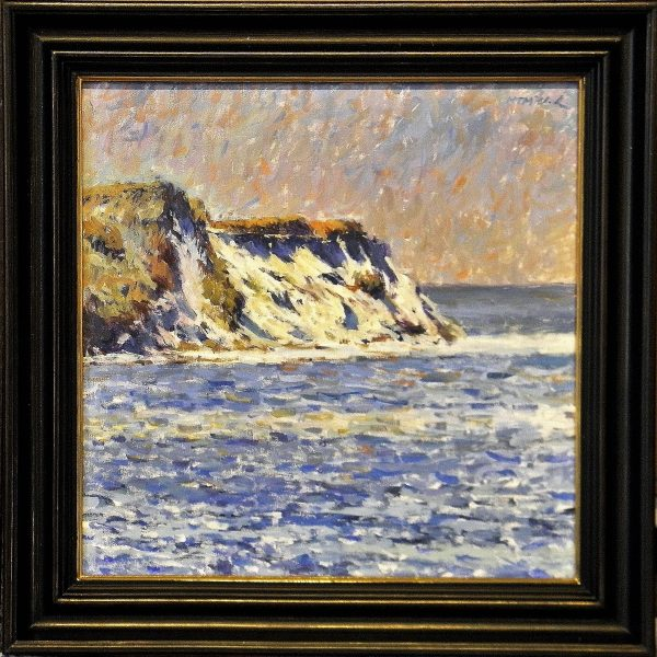 Falaises de Monet with Deep Scoop Black Frame