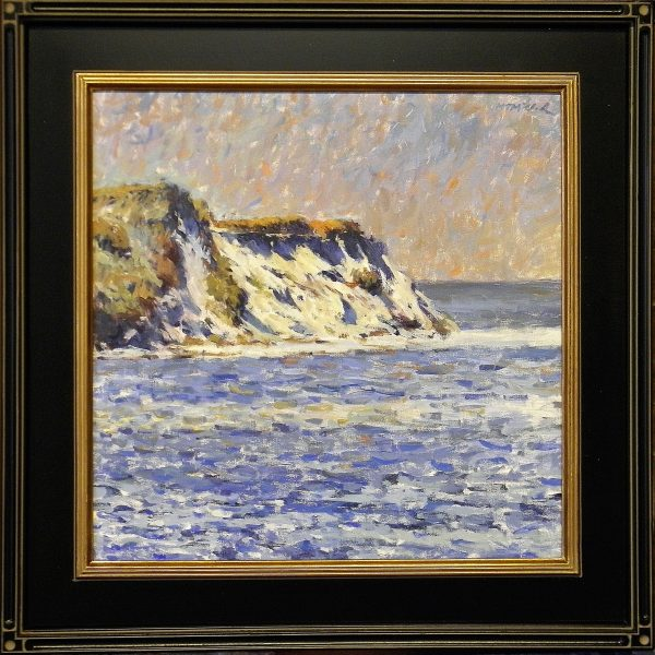 Falaises de Monet with Craftsman Style Black Frame